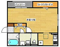 広島県広島市南区東本浦町の賃貸アパートの間取り