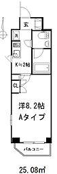 センチュリー三鷹井口弐番館[201号室(Bイプ)号室]の間取り