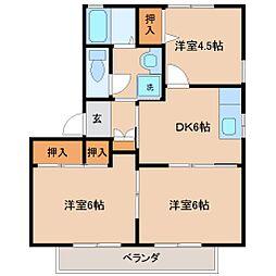 ファミール木花台 A棟[1階]の間取り