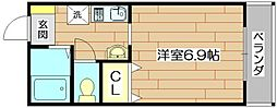 アンソレイエ・シャンブル[1階]の間取り