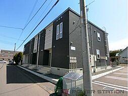 北海道千歳市幸福4丁目の賃貸アパートの外観
