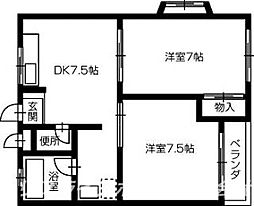 グリーンハイツ松茂[1階]の間取り