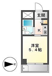ドール堀田III[3階]の間取り