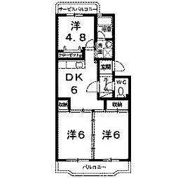 ローズマンション[3階]の間取り