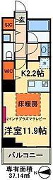 東京メトロ日比谷線 南千住駅 徒歩5分の賃貸マンション 6階1Kの間取り