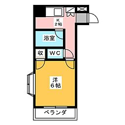 PROXY SQUARE 植田西[4階]の間取り