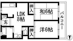 大三マンション[1階]の間取り