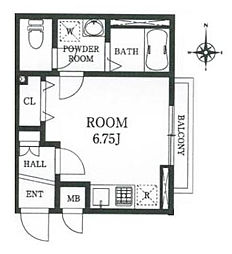 ワンズステージ大宮堀の内[2階号室]の間取り