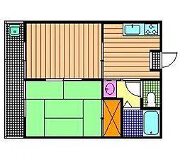 コーポ長崎(堤)[101号室]の間取り