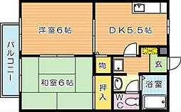 ハイツアリッサム B棟[2階]の間取り
