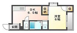 岡山県岡山市北区新屋敷町2丁目の賃貸マンションの間取り