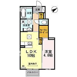 D−roomひまわり[1階]の間取り