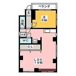 イノウエ大須ビル[4階]の間取り