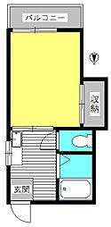東京都世田谷区新町1丁目の賃貸アパートの間取り