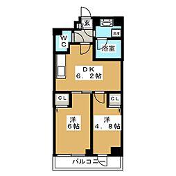 ティモーネプレミアム押上イースト 5階2DKの間取り