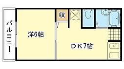 兵庫県姫路市三条町の賃貸マンションの間取り