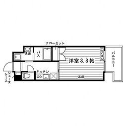 Grand Eterna 秋田駅前 11階1Kの間取り