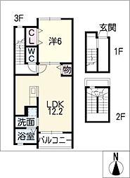 フラワーII[3階]の間取り