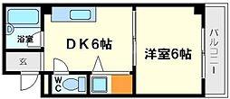 大阪府大阪市東淀川区西淡路2丁目の賃貸マンションの間取り