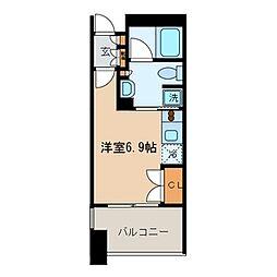ラ・グラースダイヤモンドマンション桜上水[302号室]の間取り