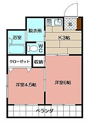 ロイヤルM[6階]の間取り