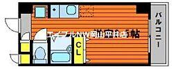 JR山陽本線 高島駅 徒歩13分の賃貸マンション 10階ワンルームの間取り