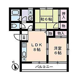 ファミーユコート恩田B棟[0203号室]の間取り