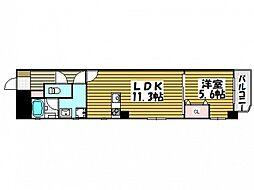 ファーストステージ国泰寺 3階1LDKの間取り