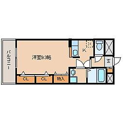 サンハイツ大島[2階]の間取り