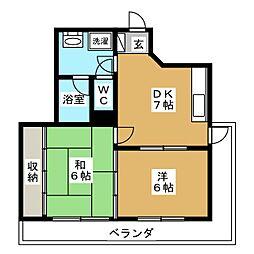 セノータ[7階]の間取り