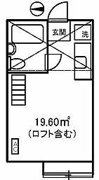 キャピタル八柱[2階]の間取り