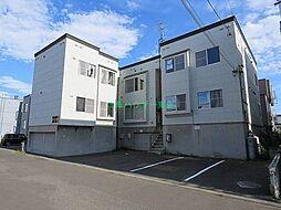 北海道札幌市東区北三十七条東2丁目の賃貸アパートの外観