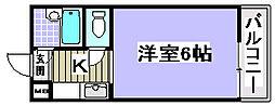 メゾン尾井[3-B号室]の間取り