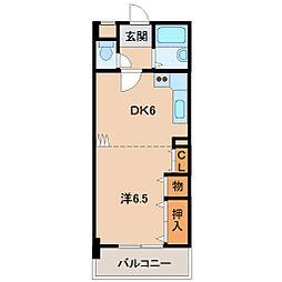 レディスマンション砂山南[2階]の間取り