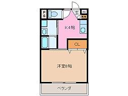 クラージュ21[2階]の間取り