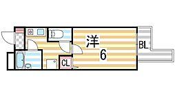 笠神マンション[405号室]の間取り