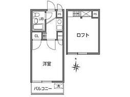 クレスト武蔵野[2階]の間取り