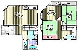 [一戸建] 大阪府和泉市井ノ口町2 の賃貸【/】の間取り