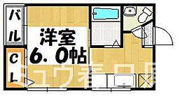 福岡県春日市須玖南8丁目の賃貸アパートの間取り