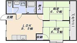 シャトレ祇園[4階]の間取り