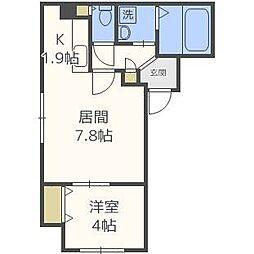 SUONO南円山[2階]の間取り