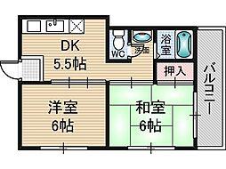 丸岡マンション2[1階]の間取り