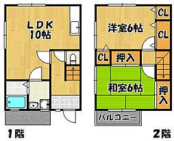 兵庫県明石市和坂3丁目の賃貸アパートの間取り