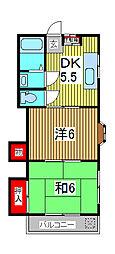 ニューエレガンス[2階]の間取り
