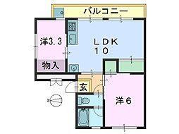 第一中村ビル[301号室]の間取り