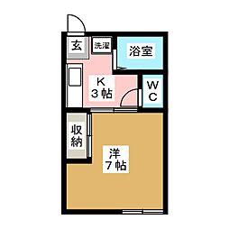 コーポ須藤[1階]の間取り