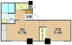 甲南ビル[4階]の間取り