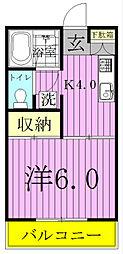 レジデンスヨシノ[207号室]の間取り
