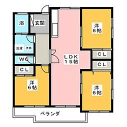 T&FK'92[3階]の間取り