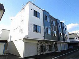 北海道札幌市豊平区平岸四条16丁目の賃貸アパートの外観